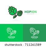 vector of hop logo design... | Shutterstock .eps vector #711261589
