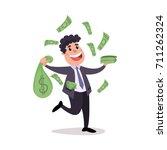 happy millionaire character... | Shutterstock .eps vector #711262324