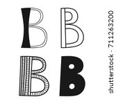 decorative letters of the... | Shutterstock .eps vector #711263200