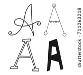 decorative letters of the... | Shutterstock .eps vector #711263218