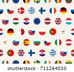seamless illustration set of... | Shutterstock . vector #711264010