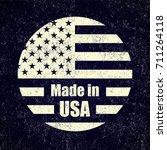 made in usa chalk emblem... | Shutterstock . vector #711264118