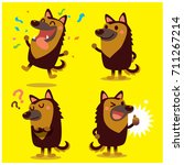 vector set of cute german... | Shutterstock .eps vector #711267214