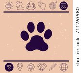 paw icon | Shutterstock .eps vector #711269980