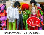 mannequins dressed in a quirky...   Shutterstock . vector #711271858