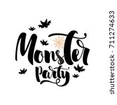 monster party message design... | Shutterstock .eps vector #711274633