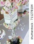 beautiful wedding arrangement... | Shutterstock . vector #711278104