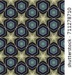 geometric seamless pattern in a ... | Shutterstock .eps vector #711278710