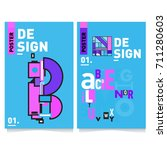 vector covers design set with... | Shutterstock .eps vector #711280603
