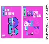 vector covers design set with... | Shutterstock .eps vector #711281896