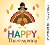 happy thanksgiving theme 6  ... | Shutterstock .eps vector #711284020