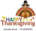 happy thanksgiving theme 5  ... | Shutterstock .eps vector #711284050