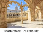 beautiful reticulated vaulting... | Shutterstock . vector #711286789