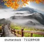 the imaging of mountain trail... | Shutterstock . vector #711289438