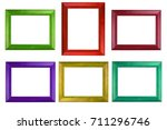 colorful photo frame isolate on ...   Shutterstock . vector #711296746