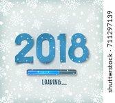 happy new year 2018 loading bar ...   Shutterstock .eps vector #711297139