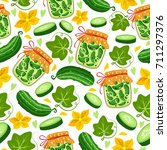 Seamless Pattern With Pieces Of ...