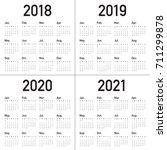 year 2018 2019 2020 2021... | Shutterstock .eps vector #711299878