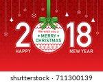 christmas day vector... | Shutterstock .eps vector #711300139