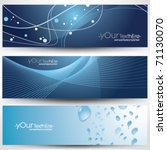vector banner design set | Shutterstock .eps vector #71130070