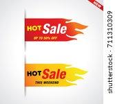 hot sale vector flaming labels... | Shutterstock .eps vector #711310309