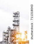 close up industrial zone. plant ... | Shutterstock . vector #711318043