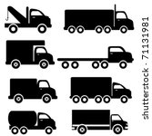 various truck silhouettes in... | Shutterstock .eps vector #71131981