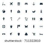 vector illustration set of... | Shutterstock .eps vector #711322810