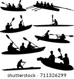 rowing collection silhouettes   ... | Shutterstock .eps vector #711326299