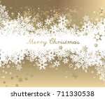 christmas background with... | Shutterstock .eps vector #711330538