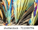 colorful microscopic shot of... | Shutterstock . vector #711330796
