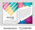 abstract vector layout... | Shutterstock .eps vector #711340453
