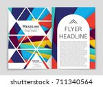 abstract vector layout... | Shutterstock .eps vector #711340564