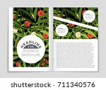 abstract vector layout... | Shutterstock .eps vector #711340576