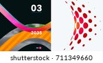 set of abstract vector rounded...   Shutterstock .eps vector #711349660