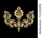 golden vector pattern on a... | Shutterstock .eps vector #711350398