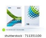 set of design of business... | Shutterstock .eps vector #711351100