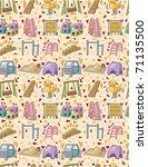 seamless playground pattern | Shutterstock .eps vector #71135500