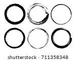 set of grunge circles.vector... | Shutterstock .eps vector #711358348