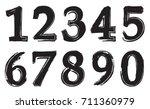 set of grunge numbers.vector... | Shutterstock .eps vector #711360979
