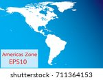 the map of amaricas zone vector....   Shutterstock .eps vector #711364153