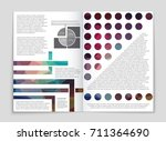 abstract vector layout... | Shutterstock .eps vector #711364690