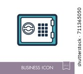 bank safe outline icon....