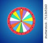 wheel of fortune flat template... | Shutterstock . vector #711365263
