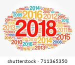 2018 happy new year and... | Shutterstock .eps vector #711365350