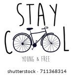 stay cool slogan and hand...
