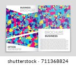 abstract vector layout... | Shutterstock .eps vector #711368824
