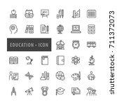 education icons set  vector... | Shutterstock .eps vector #711372073