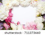 flower frame from flowers by... | Shutterstock . vector #711373660