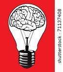 brain light bulb vector | Shutterstock .eps vector #71137408